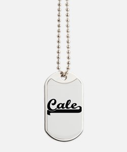 Cale Classic Retro Name Design Dog Tags