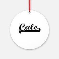 Cale Classic Retro Name Design Ornament (Round)