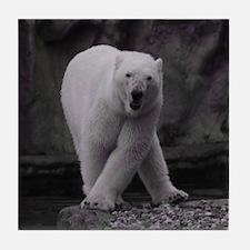 Dancing Polar Bear Tile Coaster