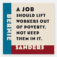 "Bernie Sanders 2016 Square Car Magnet 3"" x 3"""