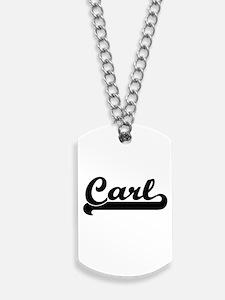 Carl Classic Retro Name Design Dog Tags