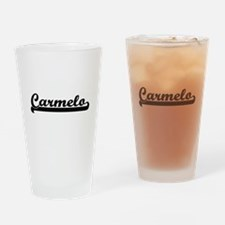 Carmelo Classic Retro Name Design Drinking Glass