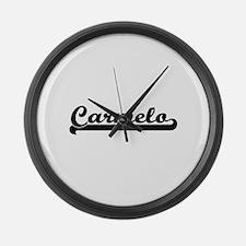Carmelo Classic Retro Name Design Large Wall Clock