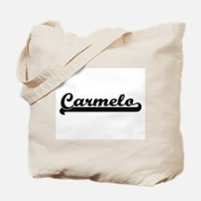 Carmelo Classic Retro Name Design Tote Bag