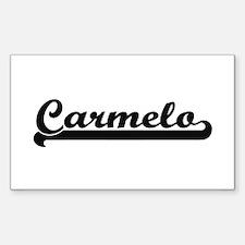 Carmelo Classic Retro Name Design Decal