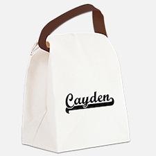 Cayden Classic Retro Name Design Canvas Lunch Bag