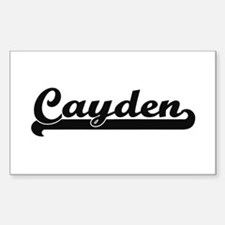 Cayden Classic Retro Name Design Decal