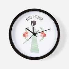 Bless this Bump Wall Clock