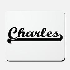 Charles Classic Retro Name Design Mousepad
