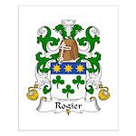 Rogier Family Crest Small Poster
