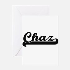 Chaz Classic Retro Name Design Greeting Cards