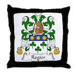 Rogier Family Crest Throw Pillow