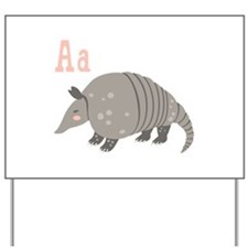 Alphabet Armadillo Yard Sign