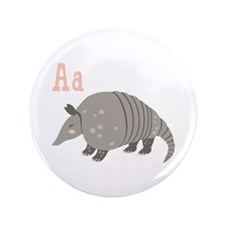 Alphabet Armadillo Button