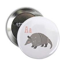 "Alphabet Armadillo 2.25"" Button (10 pack)"