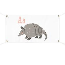 Alphabet Armadillo Banner