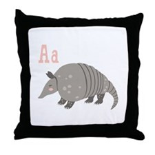 Alphabet Armadillo Throw Pillow