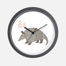 Alphabet Armadillo Wall Clock