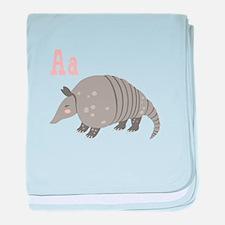 Alphabet Armadillo baby blanket