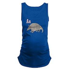 Alphabet Armadillo Maternity Tank Top