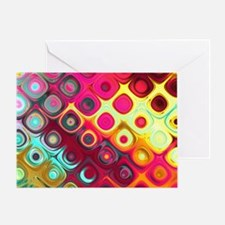 Megafunky Rainbow patterns Greeting Card