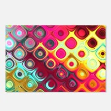 Megafunky Rainbow pattern Postcards (Package of 8)