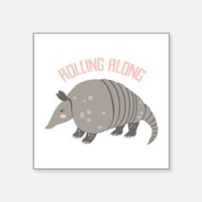 Rolling Along Armadillo Sticker