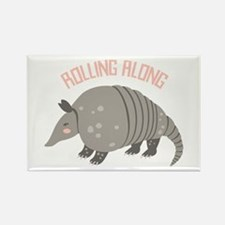Rolling Along Armadillo Magnets