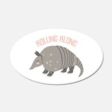 Rolling Along Armadillo Wall Decal