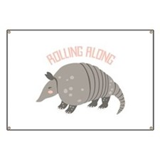 Rolling Along Armadillo Banner