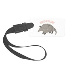 Rolling Along Armadillo Luggage Tag