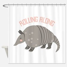 Rolling Along Armadillo Shower Curtain