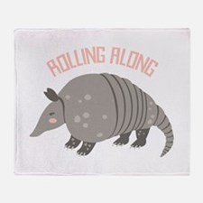 Rolling Along Armadillo Throw Blanket