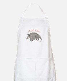 Rolling Along Armadillo Apron