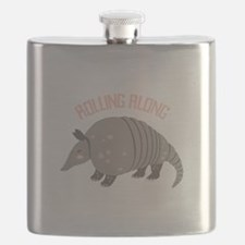 Rolling Along Armadillo Flask