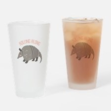 Rolling Along Armadillo Drinking Glass