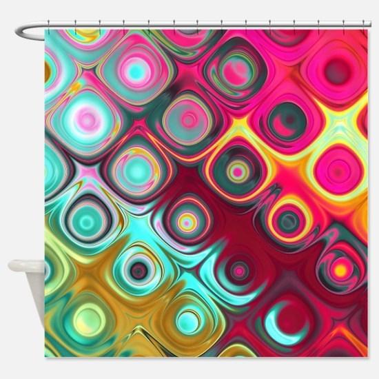 Megafunky Rainbow patterns Shower Curtain