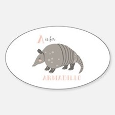 A is for Armadillo Decal