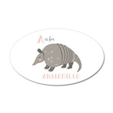 A is for Armadillo Wall Decal