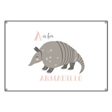 A is for Armadillo Banner
