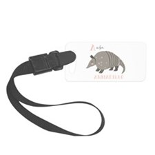 A is for Armadillo Luggage Tag