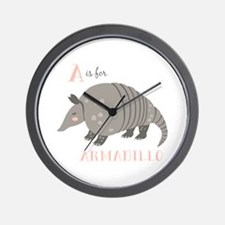 A is for Armadillo Wall Clock