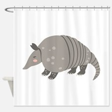 Armadillo Animal Shower Curtain