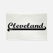 Cleveland Classic Retro Name Design Magnets