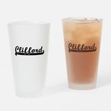 Clifford Classic Retro Name Design Drinking Glass
