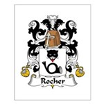 Rocher Family Crest Small Poster