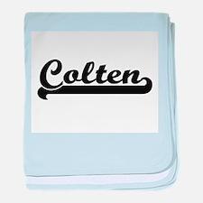 Colten Classic Retro Name Design baby blanket