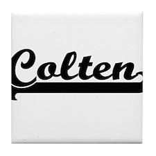 Colten Classic Retro Name Design Tile Coaster