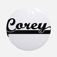 Corey Classic Retro Name Design Ornament (Round)