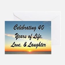 40TH BLESSING Greeting Card